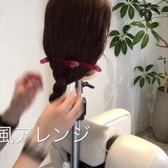 簡単ヘアアレンジ ショート ボブ ナチュラル ヘアスタイルや髪型の写真・画像
