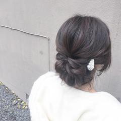 ショート ヘアアクセ 簡単ヘアアレンジ ヘアアレンジ ヘアスタイルや髪型の写真・画像