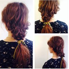 グラデーションカラー ヘアアレンジ 夏 ロング ヘアスタイルや髪型の写真・画像