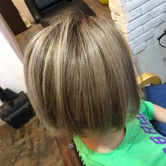 ハイトーンボブ ストリート ダブルカラー ボブ ヘアスタイルや髪型の写真・画像