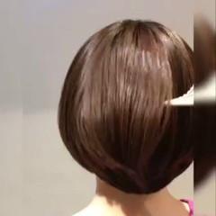 艶髪 大人グラボブ ボブ 美髪 ヘアスタイルや髪型の写真・画像