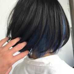 モード ボブ 外国人風カラー 外国人風 ヘアスタイルや髪型の写真・画像