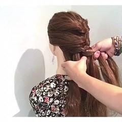 簡単ヘアアレンジ 上品 女子会 涼しげ ヘアスタイルや髪型の写真・画像