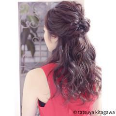 結婚式 ハーフアップ フェミニン リラックス ヘアスタイルや髪型の写真・画像