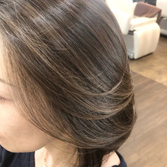 白髪染め ボブ 3Dハイライト 髪質改善カラー ヘアスタイルや髪型の写真・画像