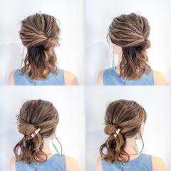 簡単ヘアアレンジ 梅雨 ナチュラル ヘアアレンジ ヘアスタイルや髪型の写真・画像