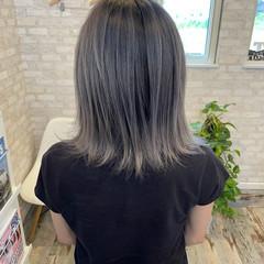 ミディアム ブリーチカラー 外国人風カラー バレイヤージュ ヘアスタイルや髪型の写真・画像