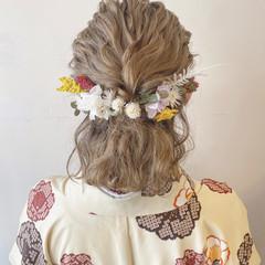 成人式ヘア 成人式 フェミニン 卒業式 ヘアスタイルや髪型の写真・画像