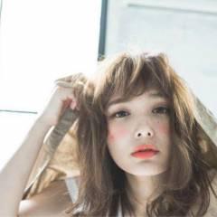 ゆるふわ 春 大人かわいい ミディアム ヘアスタイルや髪型の写真・画像