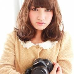 秋 コンサバ モテ髪 ミディアム ヘアスタイルや髪型の写真・画像