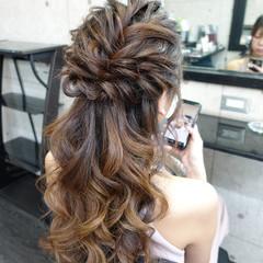 ヘアアレンジ エレガント ハーフアップ ヘアセット ヘアスタイルや髪型の写真・画像