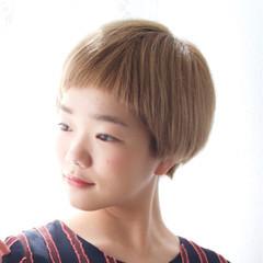 ボブ ラフ マッシュ ショート ヘアスタイルや髪型の写真・画像