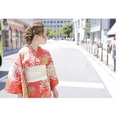 ショート 春 簡単ヘアアレンジ ミディアム ヘアスタイルや髪型の写真・画像