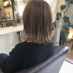 切りっぱなし 外ハネボブ 切りっぱなしボブ 簡単ヘアアレンジ ヘアスタイルや髪型の写真・画像