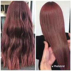 セミロング 髪質改善カラー オリーブカラー 髪質改善トリートメント ヘアスタイルや髪型の写真・画像