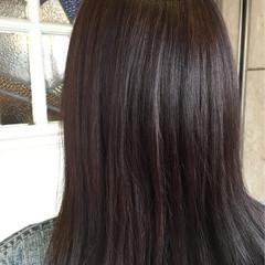 艶髪 アッシュ 暗髪 グレージュ ヘアスタイルや髪型の写真・画像