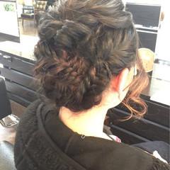 くるりんぱ ヘアアレンジ ミディアム 結婚式 ヘアスタイルや髪型の写真・画像