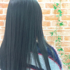 外国人風 グレー ロング 春 ヘアスタイルや髪型の写真・画像