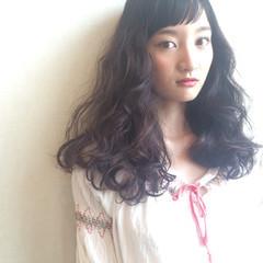 ガーリー 外国人風 暗髪 パーマ ヘアスタイルや髪型の写真・画像