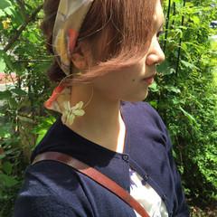 ハーフアップ ミディアム 大人かわいい 簡単ヘアアレンジ ヘアスタイルや髪型の写真・画像
