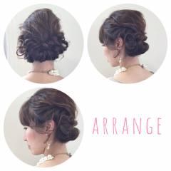 ヘアアレンジ 結婚式 ナチュラル ゆるふわ ヘアスタイルや髪型の写真・画像