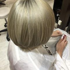 金髪 トリートメント ブリーチ ショート ヘアスタイルや髪型の写真・画像