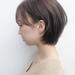 ショートヘア まとまるボブ ナチュラル ショートボブ ヘアスタイルや髪型の写真・画像