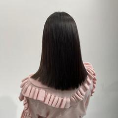 ロング 美髪矯正 縮毛矯正 ナチュラル ヘアスタイルや髪型の写真・画像