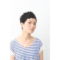 ストリート ショート 黒髪 ショートバング ヘアスタイルや髪型の写真・画像