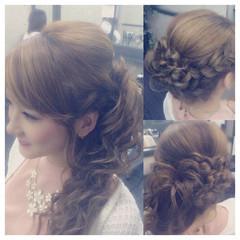 フェミニン 大人かわいい ロング ヘアアレンジ ヘアスタイルや髪型の写真・画像