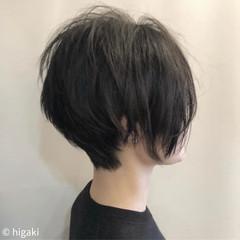 ショート モード 小顔ショート イメチェン ヘアスタイルや髪型の写真・画像