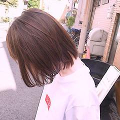 大人可愛い ショートヘア ボブ 切りっぱなしボブ ヘアスタイルや髪型の写真・画像