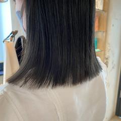 ブルージュ グレージュ 暗髪 ナチュラル ヘアスタイルや髪型の写真・画像