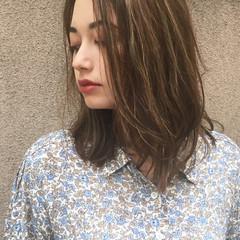 女子力 オフィス 秋 ミディアム ヘアスタイルや髪型の写真・画像