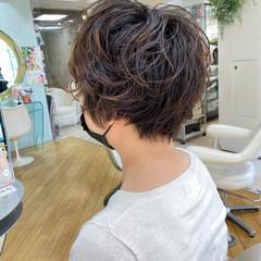 パーマ ショートパーマ ショート ベリーショート ヘアスタイルや髪型の写真・画像