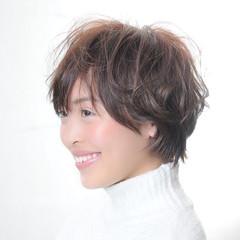 マッシュ ショート ショートボブ 小顔 ヘアスタイルや髪型の写真・画像