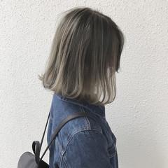 ストリート アッシュベージュ ハイライト アッシュグレージュ ヘアスタイルや髪型の写真・画像