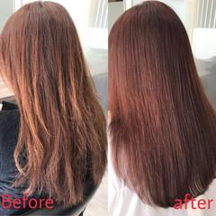 ナチュラル ダメージレス ロング 縮毛矯正 ヘアスタイルや髪型の写真・画像