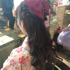 ヘアアレンジ 着物 ロング ナチュラル ヘアスタイルや髪型の写真・画像