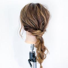 簡単ヘアアレンジ デート 女子会 セミロング ヘアスタイルや髪型の写真・画像