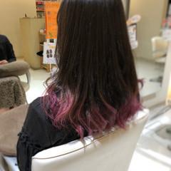 セミロング アッシュグラデーション コンサバ グラデーションカラー ヘアスタイルや髪型の写真・画像