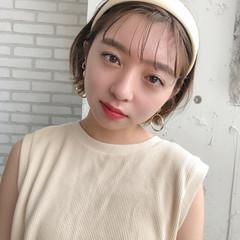 ミニボブ 簡単ヘアアレンジ ショートヘアアレンジ ヘアアレンジ ヘアスタイルや髪型の写真・画像