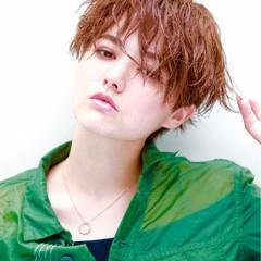 マニッシュ ショート 小顔 ストリート ヘアスタイルや髪型の写真・画像