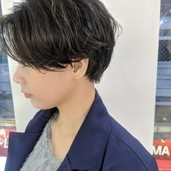 ショート ナチュラル 丸みショート 小顔ショート ヘアスタイルや髪型の写真・画像