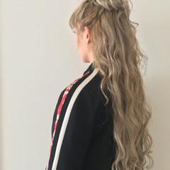 簡単ヘアアレンジ 涼しげ 結婚式 ロング ヘアスタイルや髪型の写真・画像