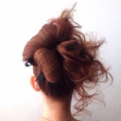 アップスタイル ヘアアレンジ ストリート パーティ ヘアスタイルや髪型の写真・画像