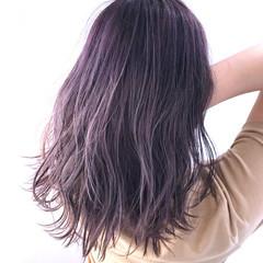 ナチュラル ラベンダーピンク ピンクブラウン ピンク ヘアスタイルや髪型の写真・画像