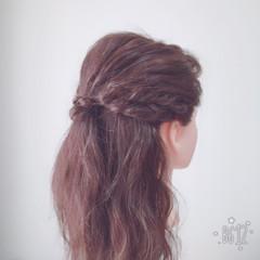 フェミニン デート ヘアアレンジ 結婚式 ヘアスタイルや髪型の写真・画像