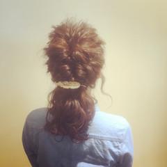 ショート 簡単ヘアアレンジ ヘアアレンジ 波ウェーブ ヘアスタイルや髪型の写真・画像