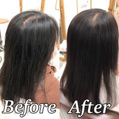 ミディアム 縮毛矯正 ナチュラル 髪質改善トリートメント ヘアスタイルや髪型の写真・画像